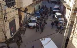 כוחות הביטחון בפינוי בחברון