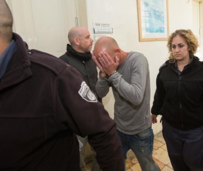 יהודה כהן, החשוד בפדופיליה, בבית המשפט