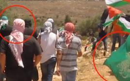 """מפגיני """"אנרכיסטים נגד הגדר"""" בהפגנה באיו""""ש"""