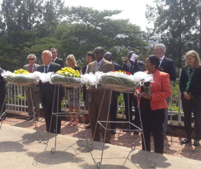 טקס ליום השואה הבינלאומי ברואנדה