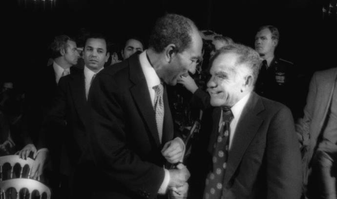 יצחק שמיר ואנואר סאדאת, 1979