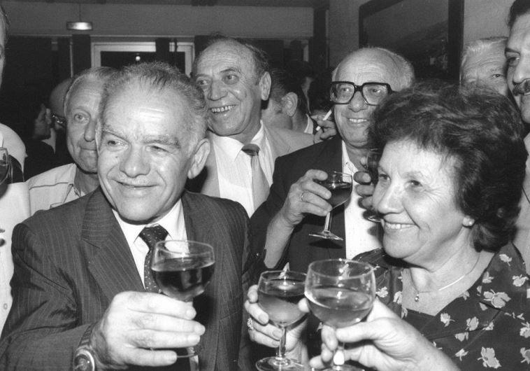"""בטקס ההשבעה כראש ממשלה, 1983. צילום: חננייה הרמן, לע""""מ"""