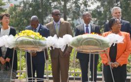 טקס לציון יום השואה בקיגאלי, רואנדה
