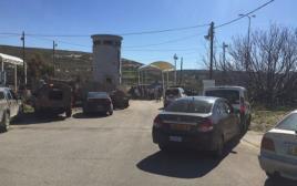 זירת פיגוע הירי במחסום ליד בית אל