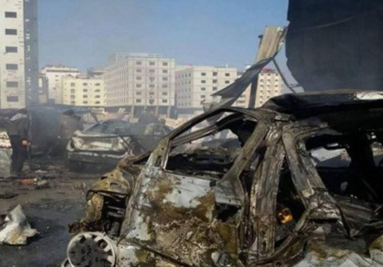 זירת הפיגוע בדמשק. צילום: סוכנות הידיעות הסורית