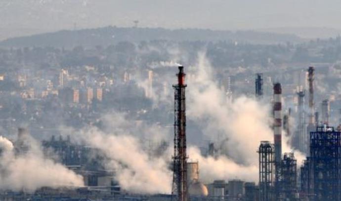 זיהום במפרץ חיפה