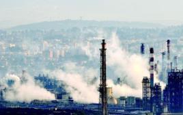 אזור המפעלים במפרץ חיפה