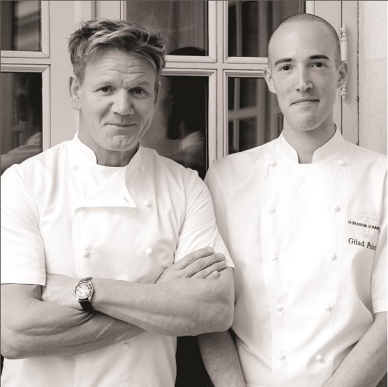 גורדון רמזי (משמאל) וגלעד פלד. צילום: אינסטגרם