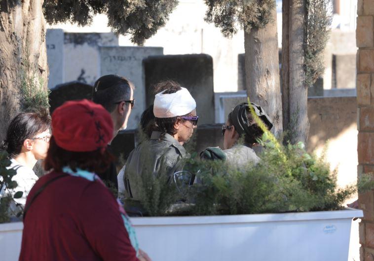 רווית מירלאשווילי, שנפצעה בפיגוע בשער שכם. צילום: אבשלום ששוני