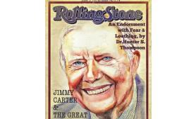 ג'ימי קרטר על שער הרולינג סטון. איור: נעמי ליס-מיברג