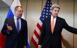 ג'ון קרי וסרגיי לברוב בשיחות על הפסקת אש בסוריה