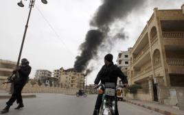 הפגזת כוחות המשטר הסורי בעיר א-ראקה