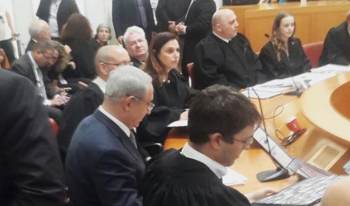 """בנימין נתניהו מופיע בפני שופטי בג""""ץ"""