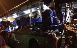 תאונת דרכים של אוטובוס בכביש 1