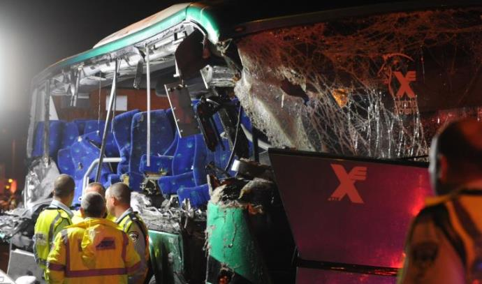 תאונת אוטובוס בכביש 1