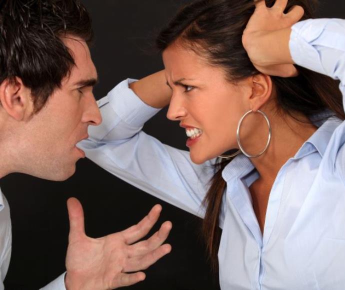 ריב זוג קריירה איש אישה רבים מתווכחים