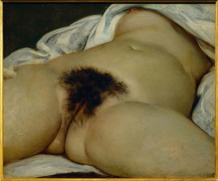 """""""הציור """"מקורו של העולם"""". צילום: ויקיפדיה"""