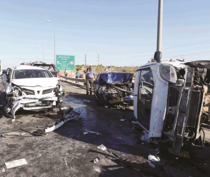 תאונת שרשרת בכביש 40, אוקטובר 2014