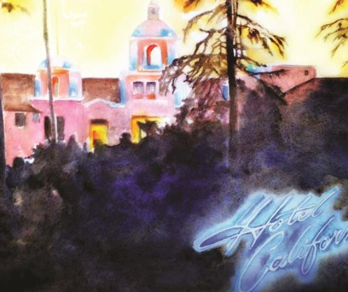 """עטיפת האלבום """"מלון קליפורניה"""", 1976"""
