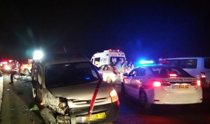 תאונת פגע וברח בכביש 6