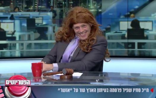 אראל סג''ל מחקה את סתיו שפיר בערוץ 20 (צילום: צילום מסך)