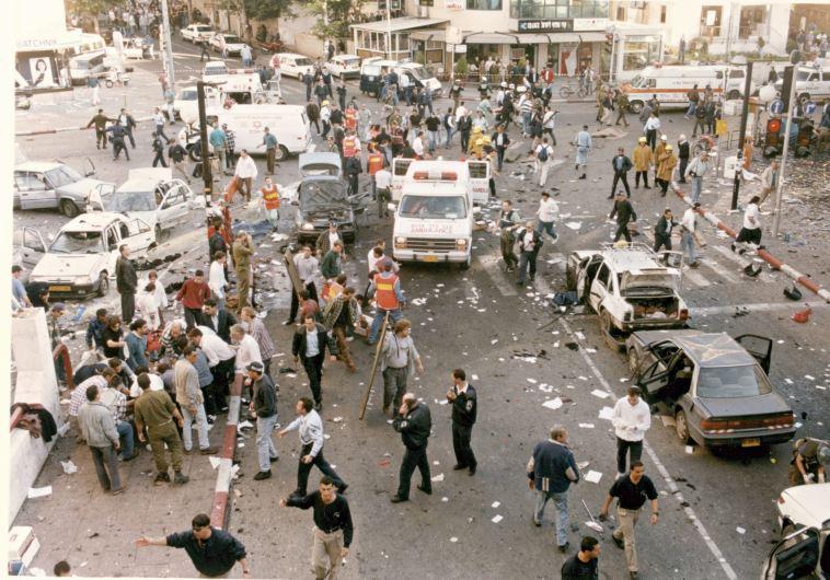 התמונות מהפיגוע, דיזינגוף 1996, צילום: אלי דסה