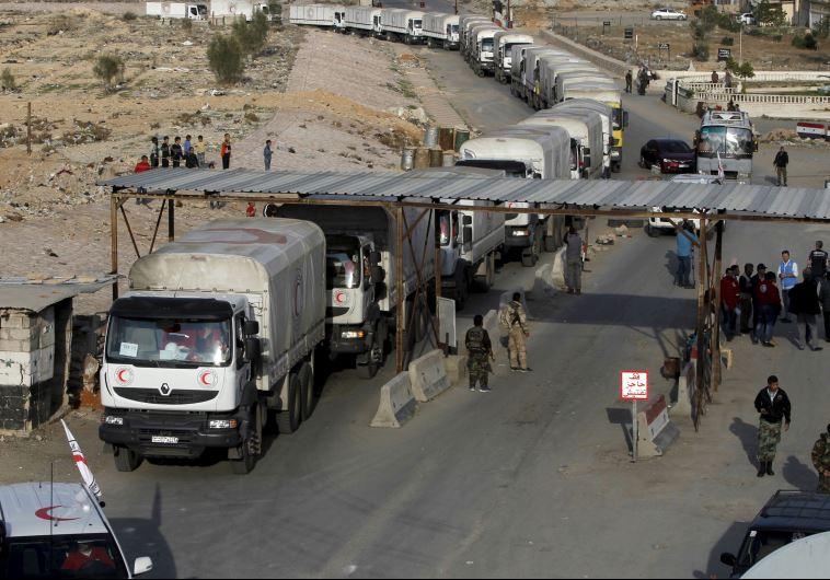 משלחת של סיוע הומניטרי בסוריה. צילום: רויטרס