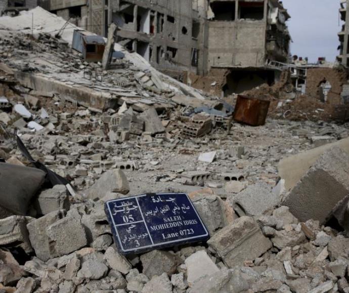 הריסות של מבנים, סוריה