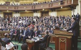 א-סיסי בנאום בפרלמנט המצרי