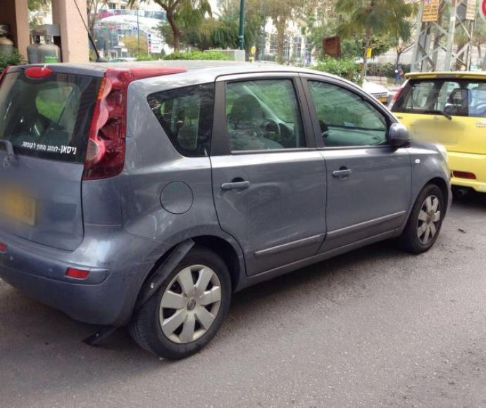 כלי רכב שנפגעו מהרכב הנמלט