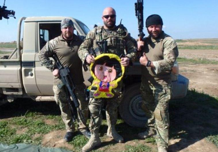 """הלוחמים הכורדים וה""""מזל""""ט"""" של דאעש שהופל"""