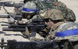 """תרגילים צבאיים משותפים של ארה""""ב ודרום קוריאה"""
