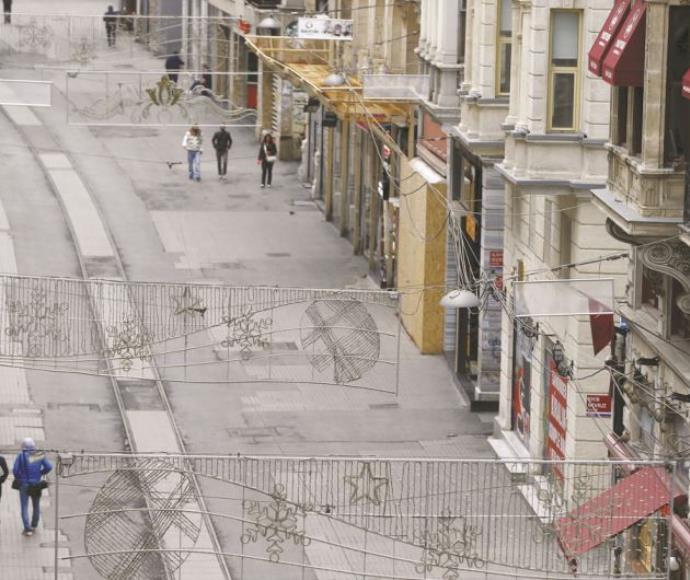 רחוב איסתיקלאל שבו אירע הפיגוע באיסטנבול