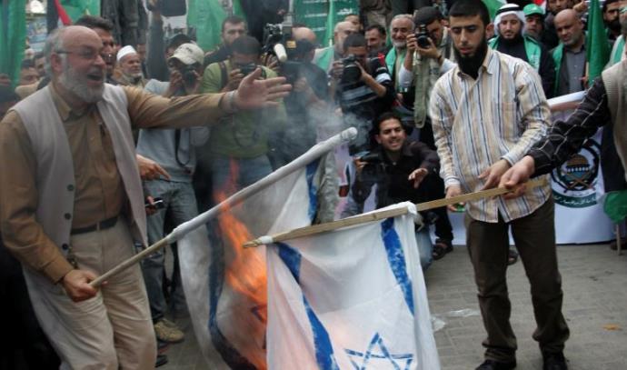 שריפת דגל ישראל