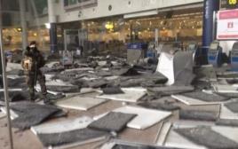 פיצוץ בשדה התעופה בבריסל