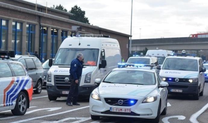 כוחות הביטחון בשדה התעופה בבריסל