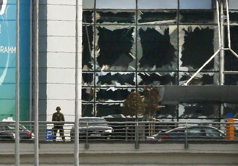 זירת הפיגוע בבריסל. צילום: רויטרס