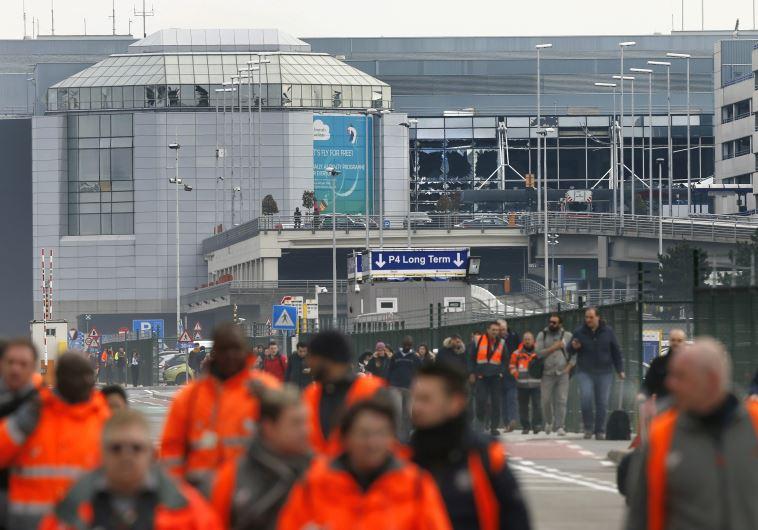 נמל התעופה בבריסל לאחר הפיגוע. צילום: רויטרס