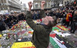 דקת דומיה לזכר הנרצחים בבריסל