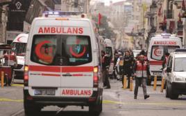 זירת הפיגוע באיסטנבול