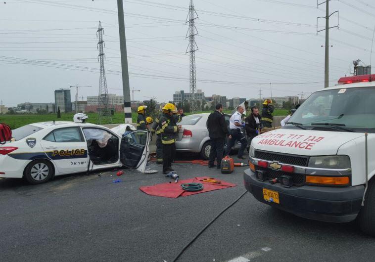 תאונה: תאונה במהלך מרדף משטרתי: נהגת בת 40 נפצעה באורח קשה