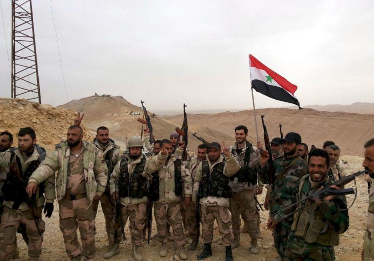 כוחות התומכים באסד בסוריה. צילום: רויטרס