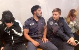 שירי סובול וערן דוד, הנאשמים ברצח הילי סובול, בבית המשפט המחוזי תל אביב