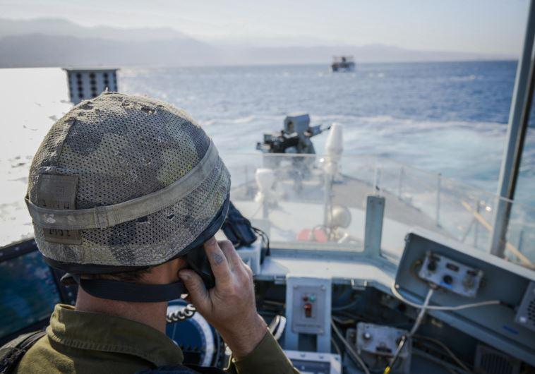 """תרגיל חיל הים באילת. צילום: דובר צה""""ל"""