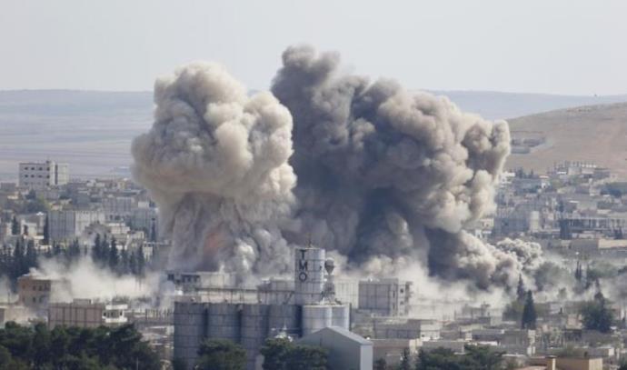 תקיפה אווירית של הקואליציה נגד דאעש, סוריה