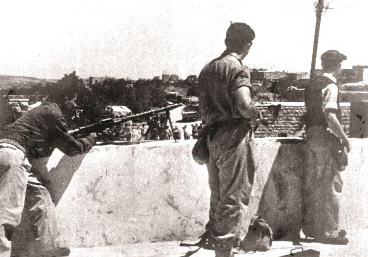 """לוחמי אצ""""ל על הגגות בדיר יאסין"""