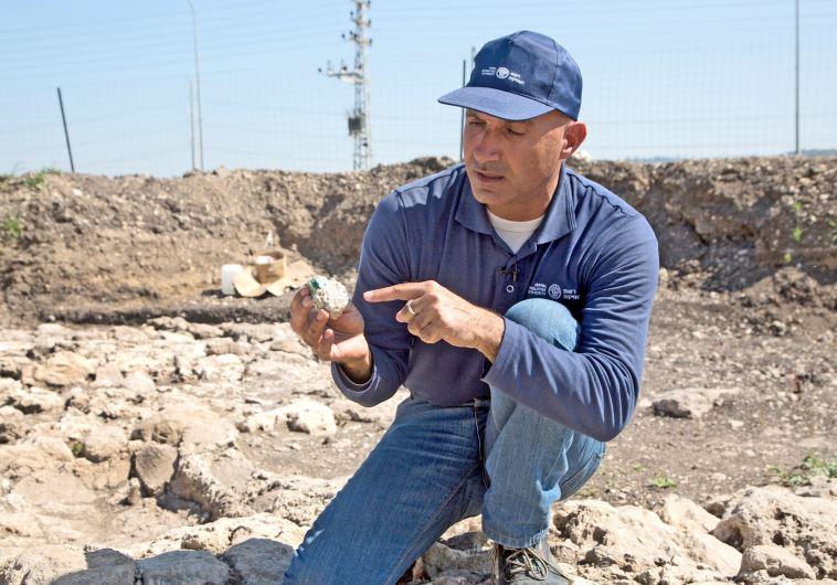 נתגלו שרידי כבשנים שייצרו זכוכית במאה ה-4. צילום: רשות העתיקות