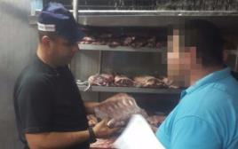 בשר חשוד שהוברח מהרשות הפלסטינית שנתפס בשפרעם