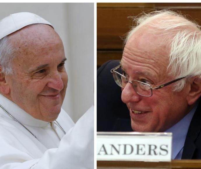 ברני סנדרס והאפיפיור פרנציסקוס