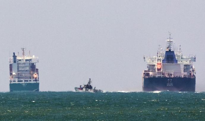 כלי שייט ישראלים בים מול עזה